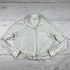 Madewell Tie-Front in Darcy stripe shirt U30